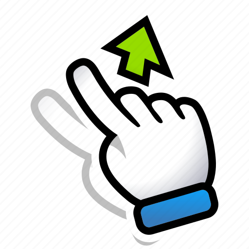 gesture, hand, move, signs, swipe, up icon