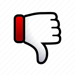 dislike, down, gesture, hand, signs, thumbs icon