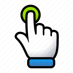 click, gesture, hand, signs, touch icon