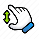 gesture, hand, resize, signs, zoom icon