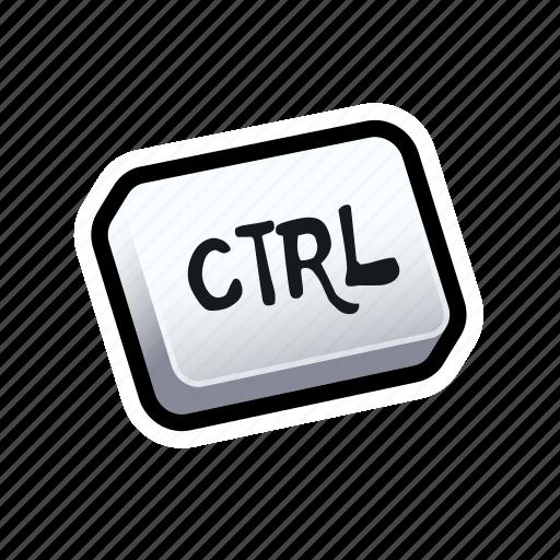 ctrl, keyboard, tutorial icon