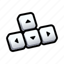 directions, gesture, keyboard, tutorial icon