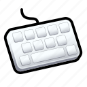 keyboard, tutorial icon