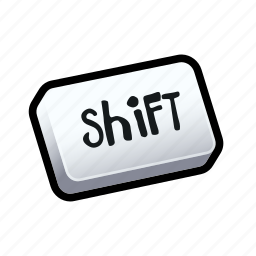 keyboard, shift, tutorial icon