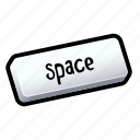 bar, keyboard, space, tutorial icon