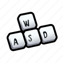 keyboard, tutorial, wasd