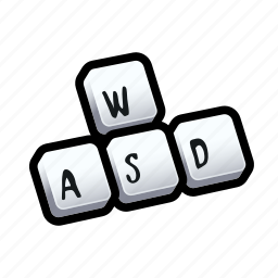 keyboard, tutorial, wasd icon