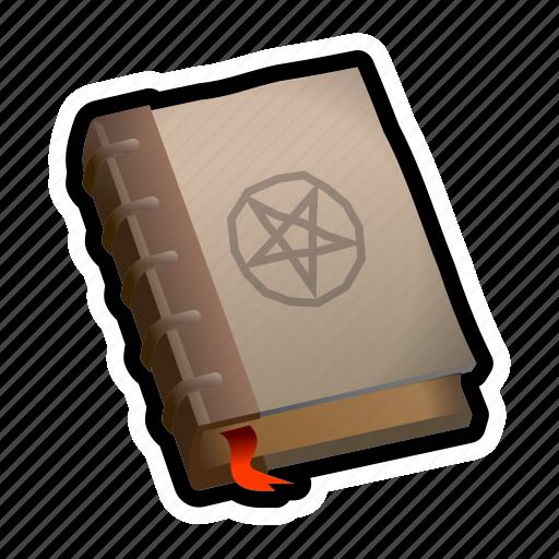Book, magic, medieval, pentagram, spell icon - Download on Iconfinder