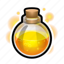 flask, magic, medieval, potion, sphere icon