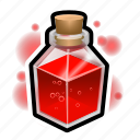 flask, magic, medieval, potion, square