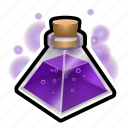 flask, magic, medieval, potion, triangle