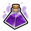 flask, magic, medieval, potion, triangle icon