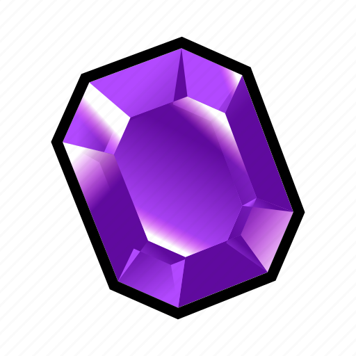 crystal, medieval, minerals, purple, stone icon