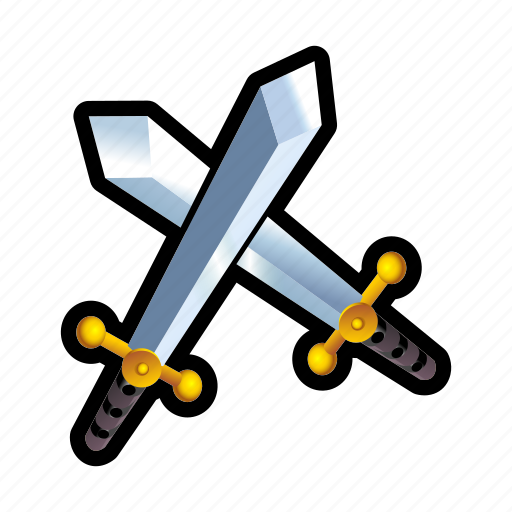 Blade, combat, game, iron, medieval, sword, weapon icon ...