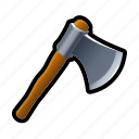 axe, battle, iron, lumber, lumberjack, medieval, tools icon