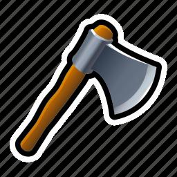 axe, battle, iron, lumber, lumberjack, medieval, tools icon