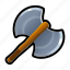 axe, battle, blade, iron, medieval, sharp, weapons icon