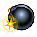 bomb, explosive, fire, medieval, weapons icon