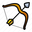 bow, medieval, weapons icon
