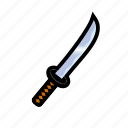 blade, iron, katana, medieval, sharp, sword, weapons icon