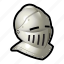 armor, helmet, knight, medieval, weapons icon