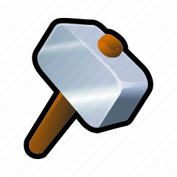hammer, iron, medieval, sledgehammer, weapons icon