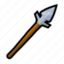 arrow, medieval, spear, weapons icon