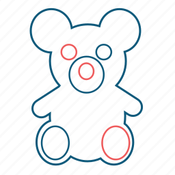 animal, bear, children, teddy, toy icon