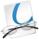 document, file, glasses icon