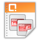 application, powerpoint, presentation icon