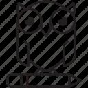 wisdom, round, education, owl, knowledge, solution, smart icon