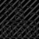 school, building, campus, collage, court, land, university icon