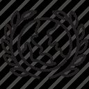 global, international, wreath, award, world, favorite, achievement icon