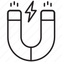 electricity, magnet, physics, horseshoe, power, poles, attraction icon