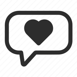 heart, love, messages icon