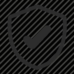 mark, ok, shield, yes icon