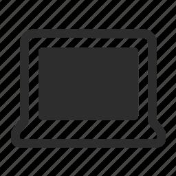 macbook, technology icon