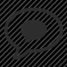 conversation, message, speech icon