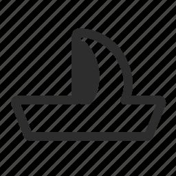 boat, sailboat, ship icon