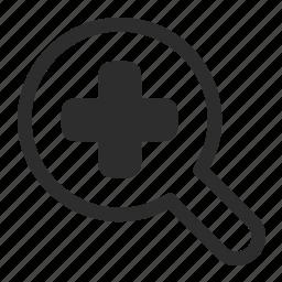 finger, in, tap, zoom icon