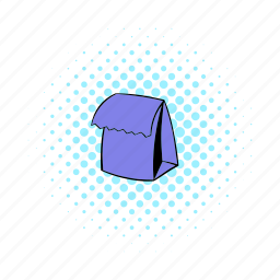 bag, comics, container, food, lunch, package, paper icon