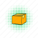 box, cardboard, carton, comics, container, empty, package icon