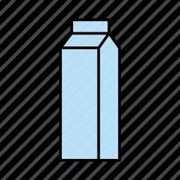 beverage, drink, milk, packaging, tetra pak, tetra-pak, tetrapak icon