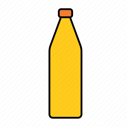 beverage, bottle, container, drink, juice, orange, packaging icon