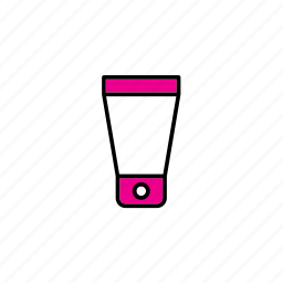 bottle, container, cream, packaging, packing, pot icon