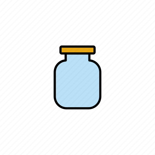bottle, container, food, glass, jar, packaging, pot icon