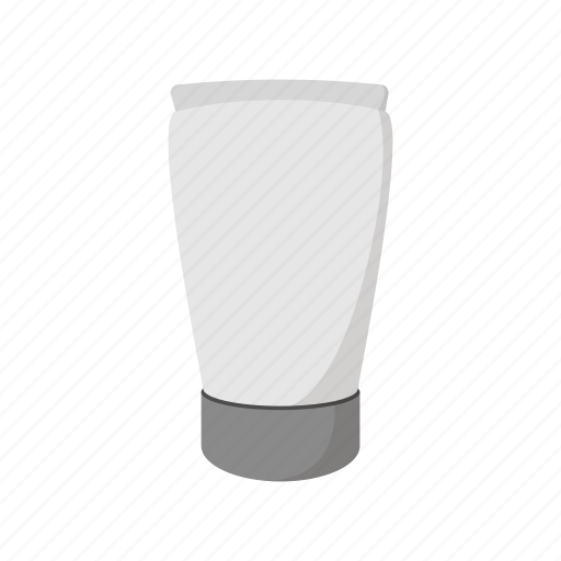 blank, cartoon, container, cream, package, plastic, tube icon