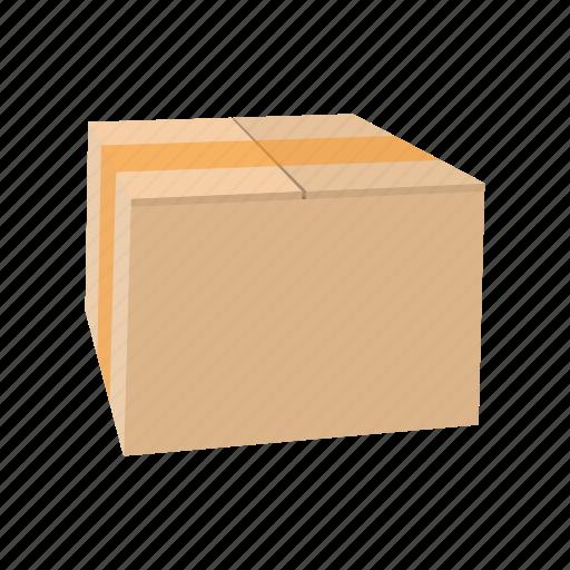 box, cardboard, carton, cartoon, container, empty, package icon