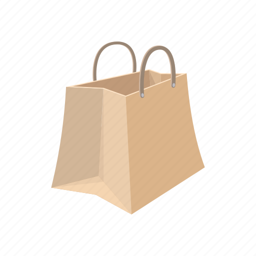 bag, buy, cartoon, empty, gift, paper, sale icon