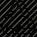 recycle, three, triangular, arrows